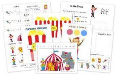 Circus Themed Preschool Printables from Homeschool Creations