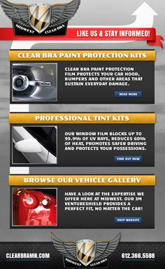 Our services. Facebook welcome tab. http://www.facebook.com/pages/Midwest-Clear-Bra/234179606693603