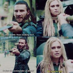"#The100 3x04 ""Watch The Thrones"" - Roan and Clarke"