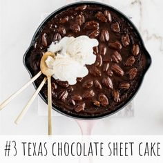 Rich, dense, fudgy Texas Chocolate Sheet Cake with a hint of cinnamon and a glossy, pecan-studded chocolate frosting made in a cast-iron skillet is the BEST chocolate cake you will ever have! Texas Chocolate Sheet Cake, Best Chocolate Cake, Chocolate Frosting, Classic Pumpkin Pie Recipe, Pumpkin Pie Recipes, Iron Skillet Recipes, Skillet Meals, Camping Meals, Camping Recipes