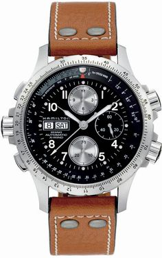 Hamilton X-Wind Black dial Brown leather strap Mens Watch H77616533 BY Hamilton http://amzn.to/2rRclxm