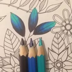 Color Pencil Drawing Ideas Unusual colours of leaves Colored Pencil Tutorial, Colored Pencil Techniques, Prismacolor, Copics, Colouring Pages, Coloring Books, Coloring Tips, Adult Coloring, Secret Garden Coloring Book
