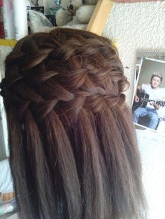 Pancake waterfall braid
