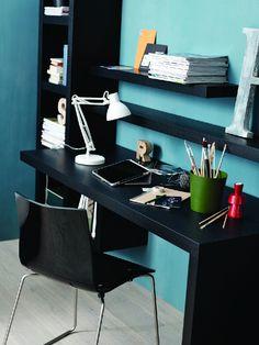 Occa domácí pracovna - stůl černý lak / home office