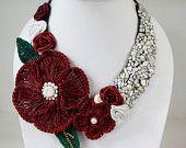 Red Spring Flower Necklace