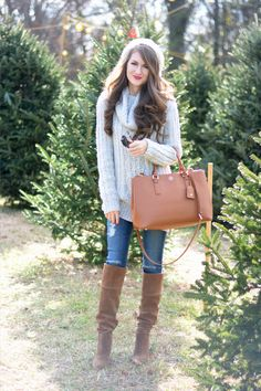 cozy outfit for Christmas tree shopping