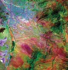 Stratigraphy and Tectonic History of the Tucson Basin, Pima County, Arizona, Based on the Exxon State Well Aerial Photography, Image Photography, Satellite Photos Of Earth, Earth View From Space, Aerial Images, Aerial Arts, Science Art, Texture Art, Cartography