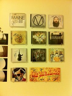 autographed CD display