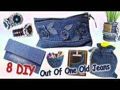 8 DIY Easy Projects Out Of One Pair Old Jeans - Recycle From Old Denim - Old Jeans Crafts - Men's style, accessories, mens fashion trends 2020 Diy Old Jeans, Old Jeans Recycle, Upcycle, Recycled Denim Crafts, Jean Diy, Pencil Case Pouch, Pencil Cases, Robe Diy, Jean Crafts