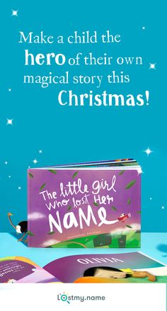 Create the perfect personalised gift this Christmas by making every child the hero of their own story. Lost My Name takes a child on a marvellous adventure to discover their name letter by letter, meeting wonderful characters as they go. Each book is personalised and made to order, so it's unique and special to your child. Create their perfect gift at www.lostmy.name. And we'll even deliver it for free if you order today!