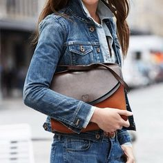 This works. Denim on #Denim with two tone brown leather accessories. Cool.