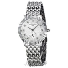 Frederique Constant Slim Line Diamond Stainless Steel Ladies Watch 235MPWD1S6B