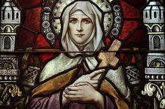 Saint Monica, depicted in the Basilica Church of Saint Mary, Phoenix, AZ (Franz Mayer of Munich).