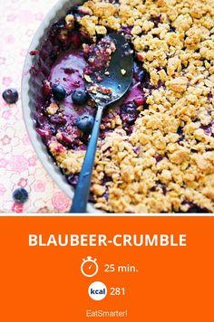 Blaubeer-Crumble