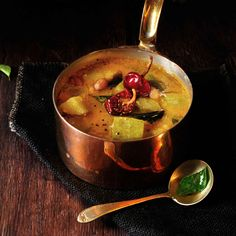 How  about making this traditional south Indian curry specially made in the wedding? Karnataka Special Huli Tovve Recipe a kind of sambar made using ground masala with a lot of mixed vegetables. Serve Huli Tovve with hot steamed rice and Elai Vadam. - Recipe by Madhuli. -->http://ift.tt/1Sey71w #Vegetarian #Recipes