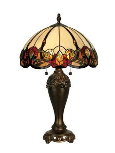 """View the Dale Tiffany TT90235 16"""" x 27"""" Northlake Table Lamp at LightingDirect.com."""