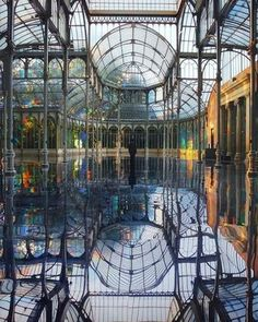 Alaa Salah | Senior Architect | Travel Inspiration: Created in 2006 by multidisciplinary artistKimsooja,To Breathe – A Mirror Womanwas an elaborate installation at the Palacio de Cristal, Parque del Retiro, in Madrid. Originally built in the late 1880s to house a collection of flora and fauna from the Philippines, Kimsooja transformed the symmetrical space into a multisensory sound and light experience. A special translucent diffraction film was used to cover the windows to create an…