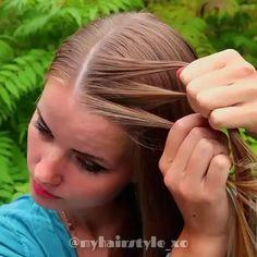 videos Simple DIY Braid Hairstyle Tutorial Easy and fast diy braid hair tutorial video Easy Hairstyles For Long Hair, Braided Hairstyles Tutorials, Diy Hairstyles, Messy Bun Tutorials, French Braided Hairstyles, Summer Hair Tutorials, Messy Hair Tutorial, Sporty Hairstyles, Woman Hairstyles