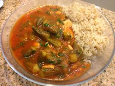 This stew is a terrific way to change the way okra is served. This savory stew marries the distinct flavor of okra with a zesty tomato sauce and tender chunks of chicken. But many people don't like chicken in their stew, so if you like the alternative vegetarian version, just leave the chicken out and use vegetable broth to replace the 2 cups of water in the recipe. And if you like lamb or beef stew meat, you can use that instead, just cook the meat with water, a bay leaf, 1 tsp salt, and…