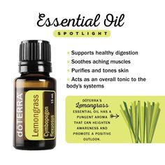 I use lemongrass in my face wash as well as in my hand soap and bug spray, but my favorite way to use lemongrass is for muscle soreness and aches- simply apply a drop of lemongrass diluting in your favorite carrier oil and then layer a drop of peppermint essential oil over the top. The peppermint oil drives in the lemongrass and it really soothes sore, tired muscles.