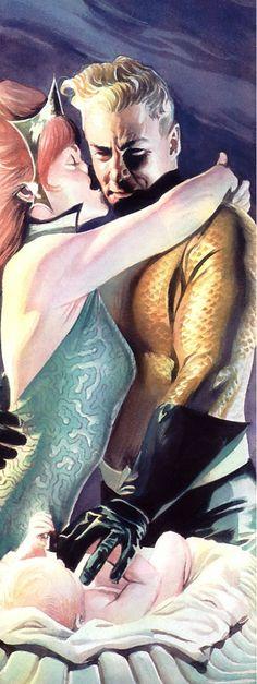 Aquaman and Mera by Alex Ross