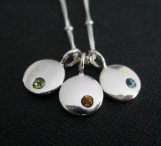 Birthstone necklace birthstone charm necklace by thejewelrybar, $54.50