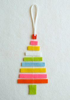 3 adornos de fieltro para tu árbol de Navidad