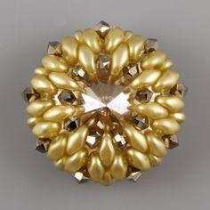*Stitched Swarovski Rivoli 18mm rivoli, 3mm crystals