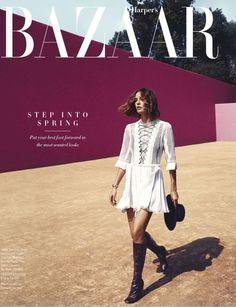 Harper's Bazaar US March 2015 | Nadja Bender by Camilla Akrans [Editorial]