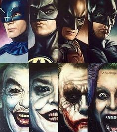 The evolution of Batman and Joker ❤