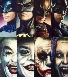 The evolution of Batman and Joker ❤