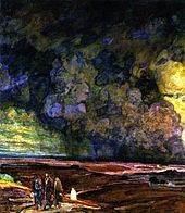 Henry Ossawa Tanner, Sodom and Gomorrah, c. oil on canvas, Private Collection Religious Paintings, Religious Art, African American Artist, American Artists, Henry Ossawa Tanner, Harlem Renaissance Artists, Pictures Of Christ, Bible Pictures, Sodom And Gomorrah