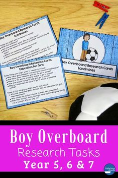 Boy Overboard Novel Study: Research Tasks Teaching Activities, Teaching Strategies, Teaching Ideas, Morris Gleitzman, Maths Investigations, Year 7, Organisers, Readers Workshop, Task Cards