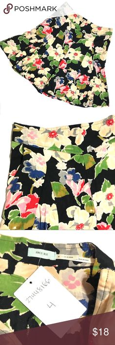 "Kimchi Blue Floral High Waist Flowy Side Zip Short NWT Kimchi Blue Urban Outfitters Floral High Waist Flowy Side Zip Shorts SZ 4  *New With Tags  Measurements: 28"" Waist 8"" Inseam 11"" Rise Urban Outfitters Shorts"