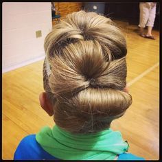 CGH: Dance hair. Loved it when I saw it at the dance competition last week.