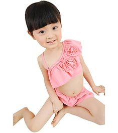 Wengift Kids Girls Swimwear Swimming Clothes Bikini TwoPiece Set Swimsuit >>> Read more  at the image link.