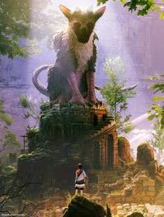 #Art by Daniel Conway #TheLastGuardian
