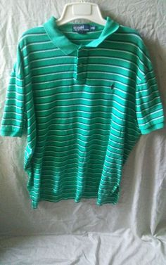"""This is a pre-owned Polo Ralph Lauren Shirt. Has no stains. There is a tear near the bottom on the side of shirt refer to last picture.Has some wrinkles from being folded. Armpit to Armpit measures 27.5"""" Length from Shoulders to hem is 28"""" Shoulders is 22"""". 
