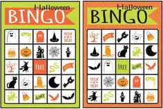 halloween bingo free printables use for classroom party or home