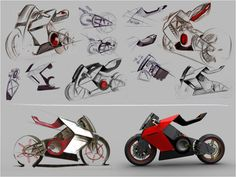 ID sketch development of electric motorcycle