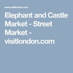 Near the Tube entrance and the shopping centre you'll find a several stalls that make up Elephant and Castle Market. Clothes, fruit and vegetables and confectionary are all on sale. Elephant And Castle, Stalls, Shopping Center, Entrance, Centre, Things To Do, Tube, Marketing, Fruit