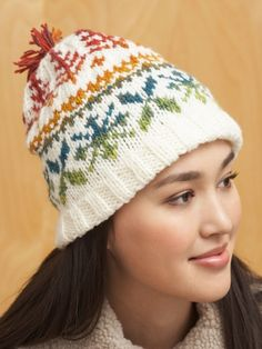 Fair Isle Hat | Yarn | Free Knitting Patterns | Crochet Patterns | Yarnspirations
