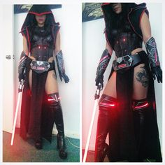 Raquel Sparrow plays a great Sith Witch! - COSPLAY IS BAEEE! Tap the pin now to grab yourself some BAE Cosplay leggings and shirts! From super hero fitness leggings, super hero fitness shirts, and so much more that wil make you say YASSS! Costume Sith, Costume Star Wars, Star Wars Sith, Amazing Cosplay, Best Cosplay, Female Sith, Sabre Laser, Fantasias Halloween, Star Wars Girls