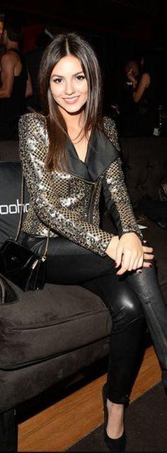 Beautiful victoria in sequin jacket