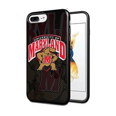 NCAA University sport Maryland Terrapins , Cool iPhone 7 Plus Smartphone Case Cover Collector iPhone TPU Rubber Case Black [By Lucky9Cover]#280 #sports #shop