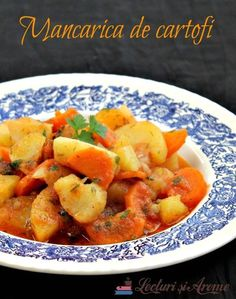 vegane (de post) Archives - Page 17 of 23 - Lecturi si Arome Romanian Food, Romanian Recipes, Vegetarian Recipes, Cooking Recipes, Bon Appetit, Sweet Potato, Food And Drink, Potatoes, Dinner