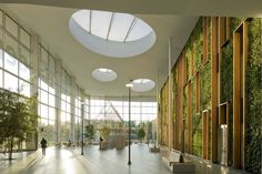 Image 6 of 17 from gallery of Alliander HQ / RAU architects. Photograph by Marcel van der Burg Lobby Design, Atrium Design, Green Architecture, Architecture Details, Hospital Design, Workspace Inspiration, Diy Garden Decor, Skylight, Office Interiors