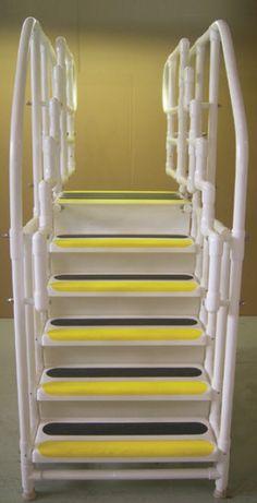 Pvc Ladder For The Pool Pool Pinterest Pvc Pipe Pvc