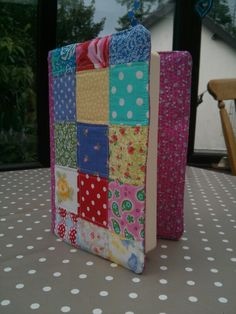 Patchwork quilted journal cover