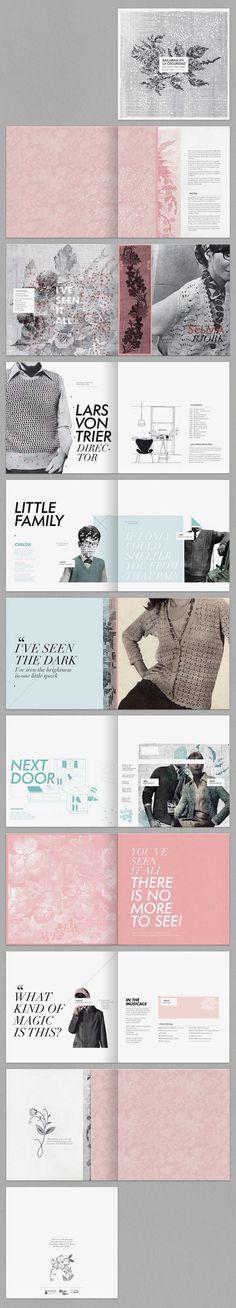 Layout Design` / Karina Cukierman / Dancer in the Dark graphic design editorial Design Brochure, Graphic Design Layouts, Graphic Design Typography, Graphic Design Illustration, Layout Design, Branding Design, Design Color, Branding Ideas, Texture Design